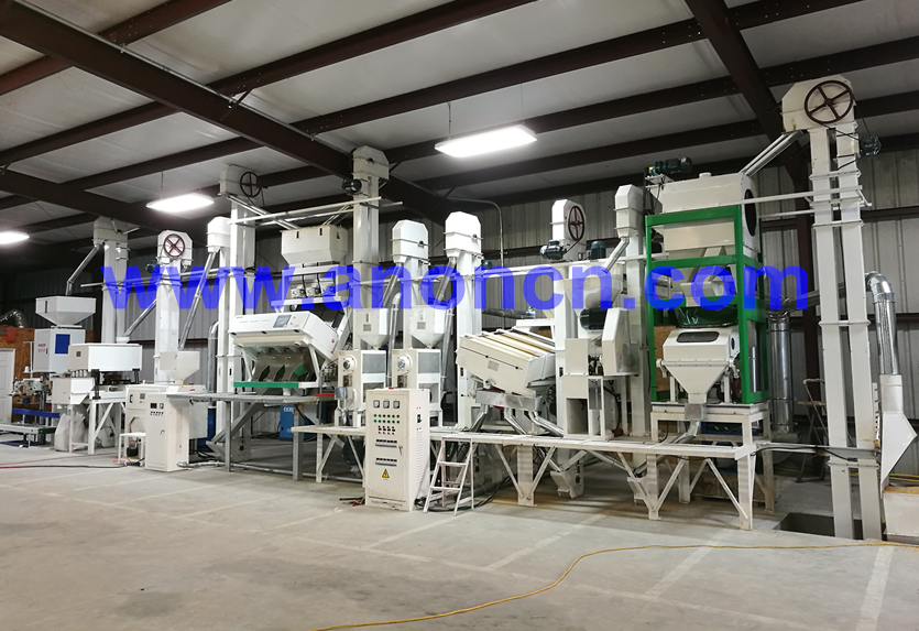 Warmly congratulation on the successful installation of rice mill project in USA