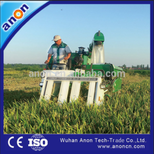 ANON tracke type combine harvester for rice and wheat
