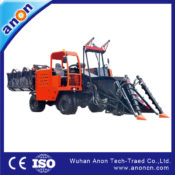 Small full straw cane harvester