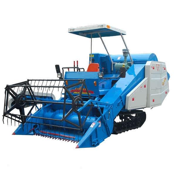 crawler-type-grain-combine-harvester