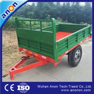 Anon hot sales compact tractor trailer 4 wheel farm trailer for tractor