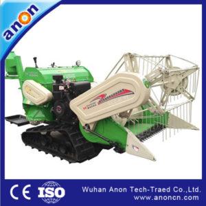 ANON 4LZ-0.9LB rubber track riding type mini rice paddy wheat combine harvester